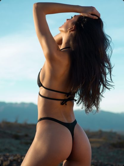 black thong bikini