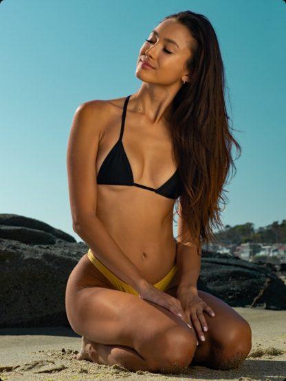 gold thong bikini