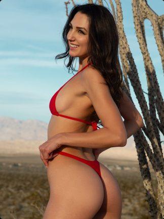 red thong bikini