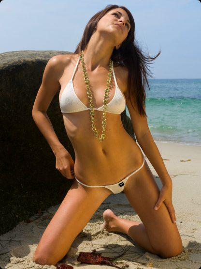 ivory pique micro g string bikini