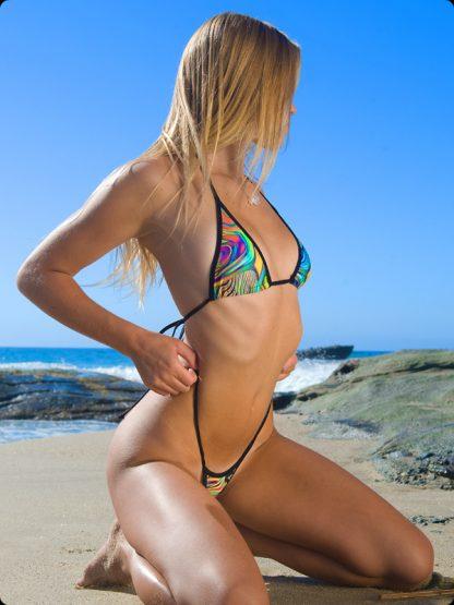 paint swirl micro g string bikini