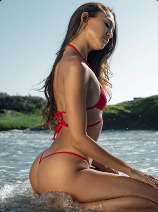 red micro g string bikini