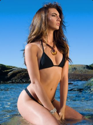 black high cut cheeky bikini