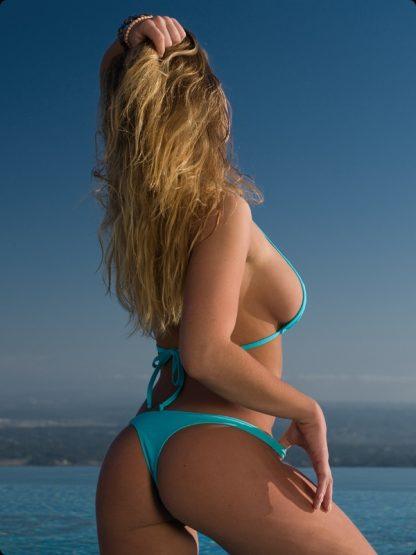 marine high cut cheeky bikini