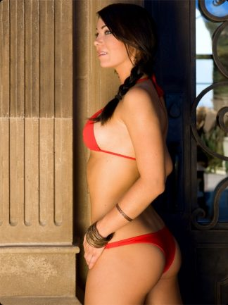 red cheeky brazilian bikini