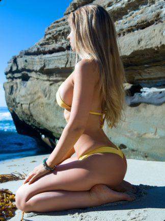 gold cheeky bikini