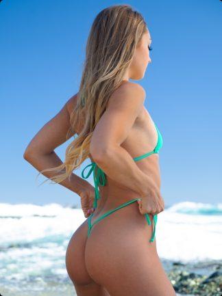 mint green tie side micro bikini