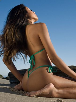 mint green tie side micro bikini