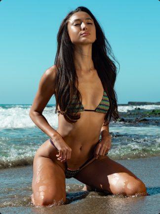 santiago tie side thong bikini