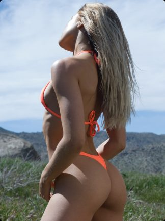 neon orange thong bikini