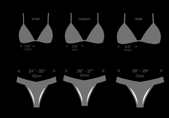 low cut cheeky bikini sizing