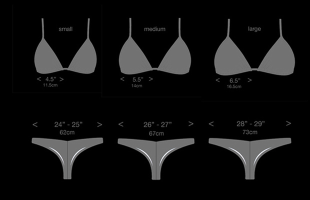 tiny brazilian cut bikini sizing