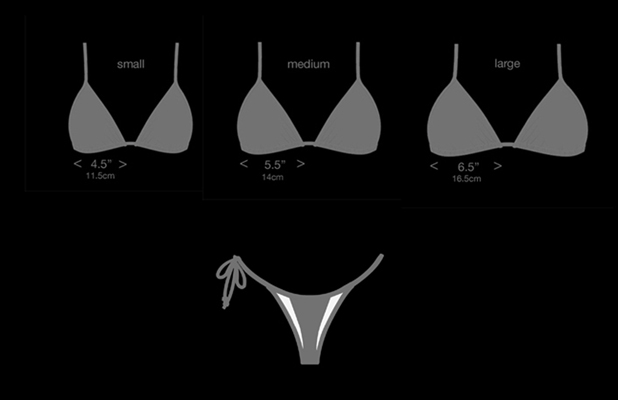tie side thong bikini sizing