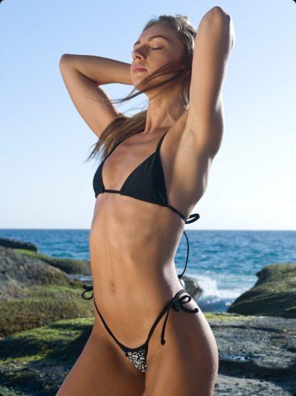 Daisy Black and White tie side micro bikini