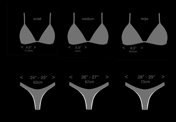 valina top and bottom sizes