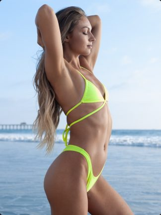 neon yellow super high cheeky