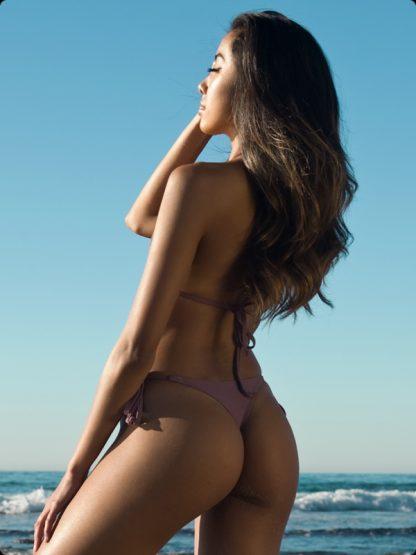 tie side champagne cheeky bikini